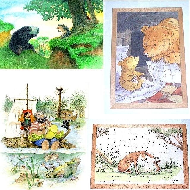 Prentenboekpuzzel set van 4 stuks