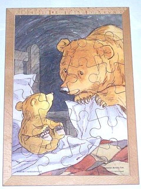 Prentenboekpuzzel welterusten kleine beer