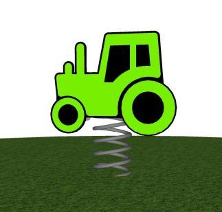 Veerfiguur tractor