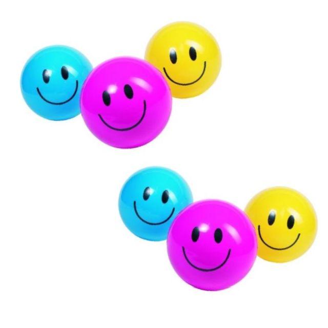Bal smile 20 cm. set van 6