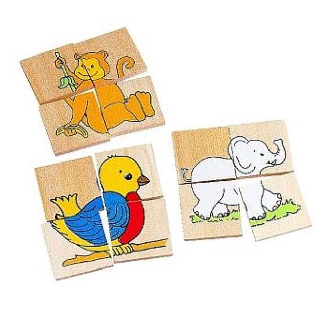 Dierenpuzzels 11 verschillende