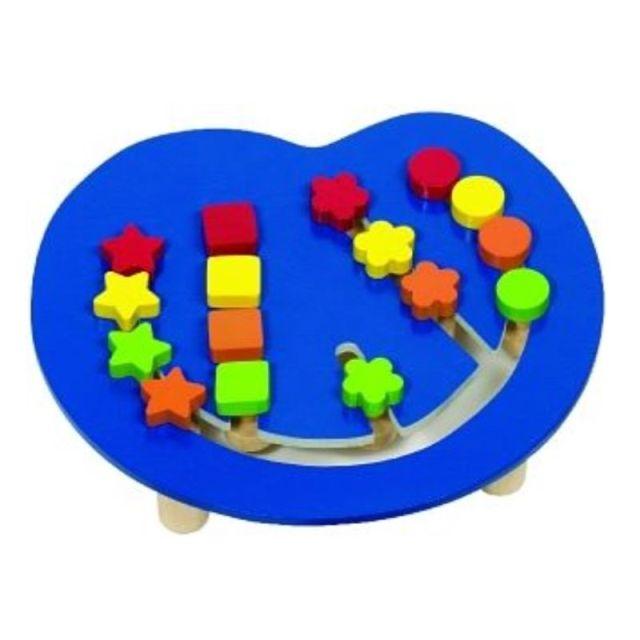 Kleuren- en vormenrangschikbord blauw