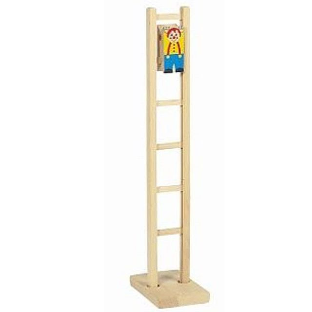 Ladderacrobaat clown