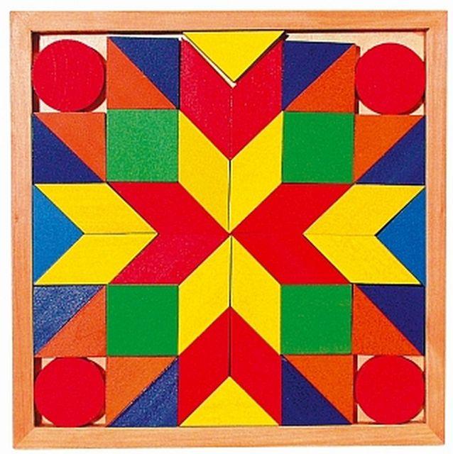 Mozaiek in houten kistje