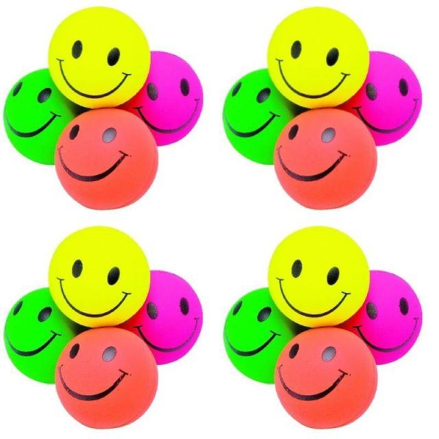 Rubberbal smile 6,3 cm. set van 12