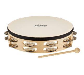 Headed Wood Tambourines B 25 cm