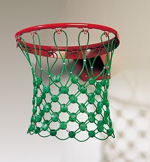 Basketbalnet van 5mm groen hercules