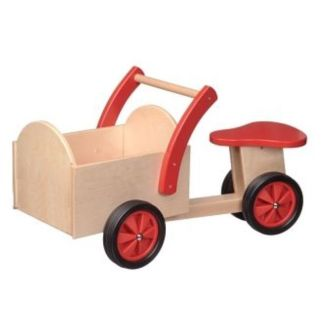 Bakfiets blank/rood