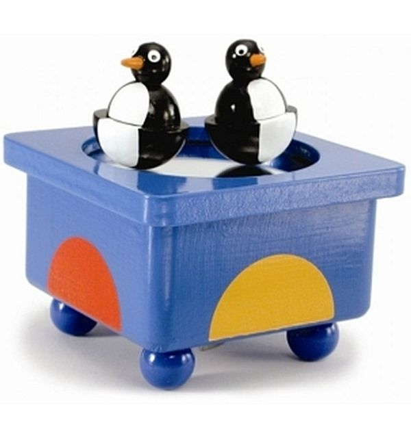 Muziekdoos pinguins entertainer