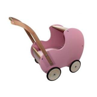 Poppenwagen retrostijl roze