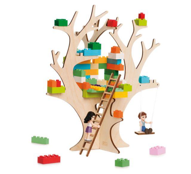 3D Puzzel voor bouwstenen Boomhut