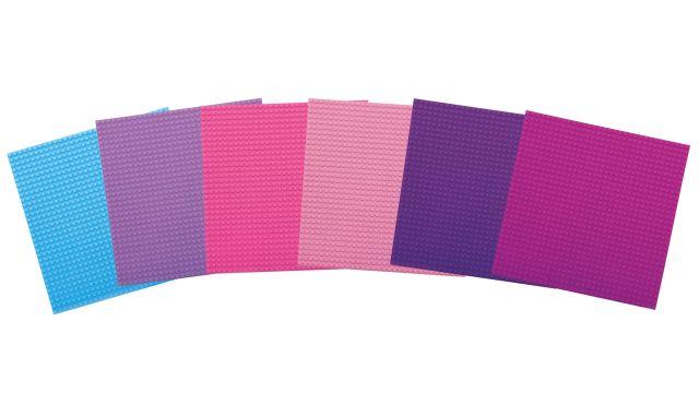 Basis Bouwplaten Groot voor bouwstenen Pretty Pink
