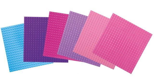 Basis Bouwplaten klein voor bouwstenen Pretty Pink