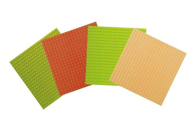 Basis Bouwplaten klein voor bouwstenen Set natuur tinten