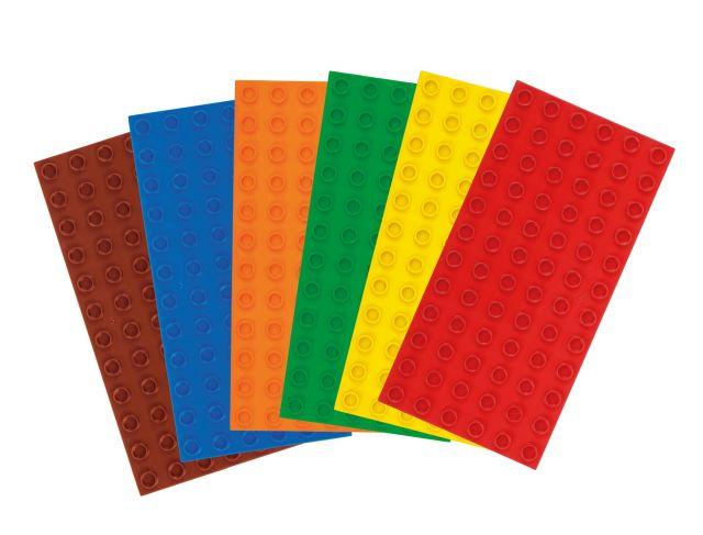 Big Bricks Bouwplaten voor grote bouwstenen Set Pastell