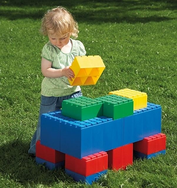 Dantoy giant blocks rood en blauw