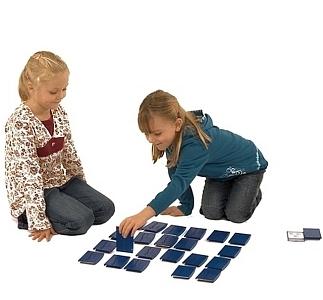Ergopic set van 24 kaarten in blauw en rood