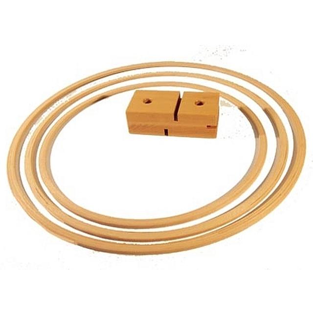 houten gymhoepel 60 cm set van 12 stuks