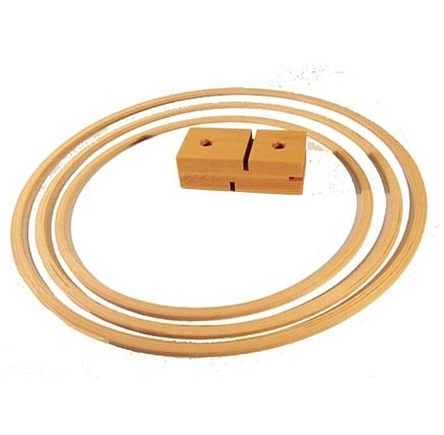 houten gymhoepel 70 cm set van 12 stuks