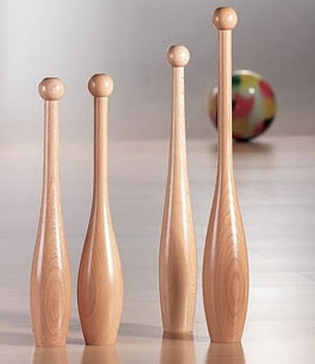 houten gymknots 40 cm set van 12 stuks