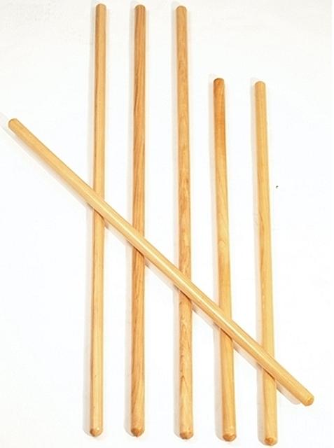 houten gymstok 100 cm set van 12 stuks