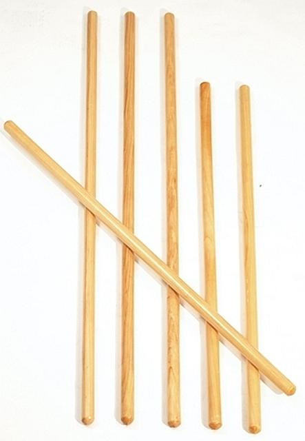 houten gymstok 80 cm set van 12 stuks