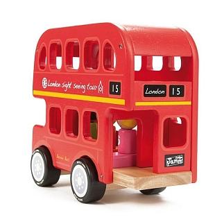Houten open dak Dubbeldekker Bus London