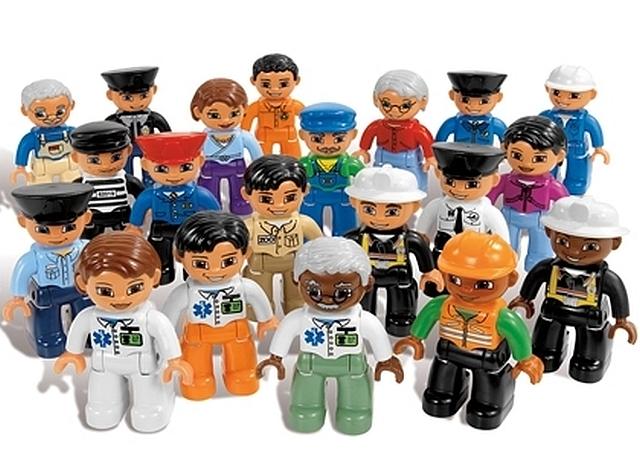 Lego duplo mensen en hun beroep