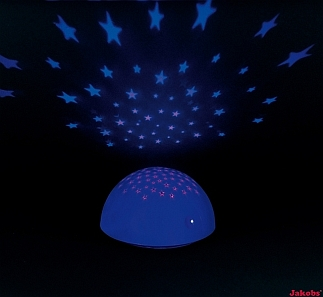 Nacht Lamp STARS Blue