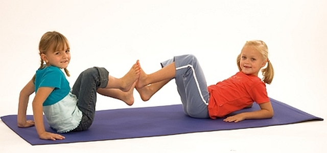 Oefeningen mat sport en fitness