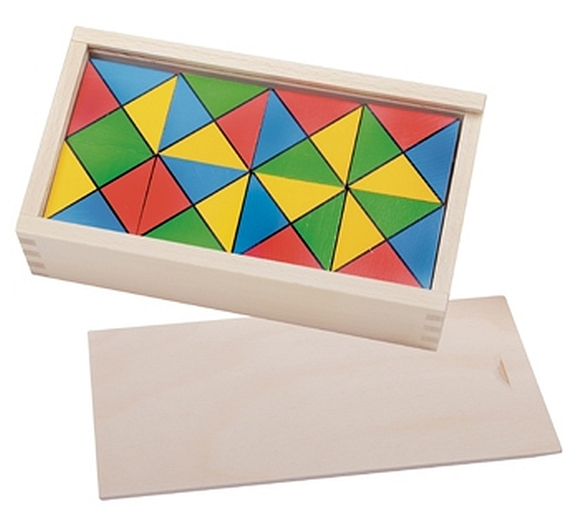 Rainbow Cubes in Wooden Box
