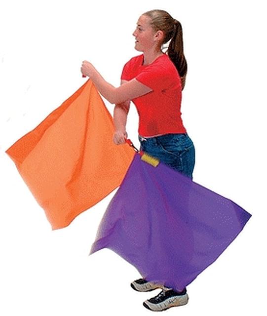 Ritmiek vlaggen set van 6, 50 cm. 70 gr.