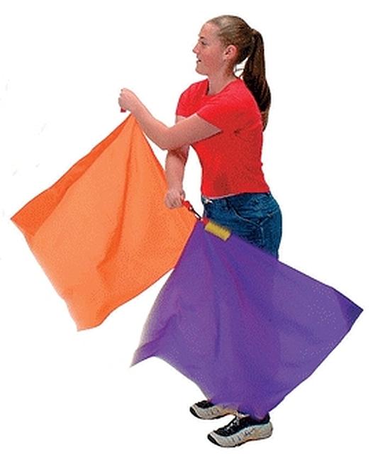 Ritmiek vlaggen set van 6, 70 cm. 110 gr.