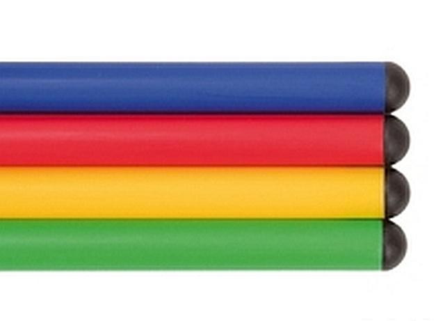 Set van 12 kunststof gymnastiek stokken 100 cm