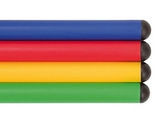 Set van 12 kunststof gymnastiek stokken 120 cm