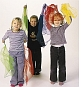 Set van 12 magic scarves 66 x 66