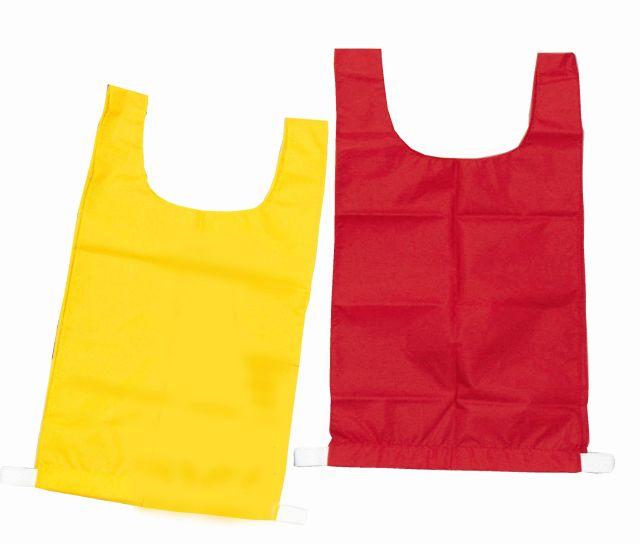 Set van 2 teamhesjes in geel en rood