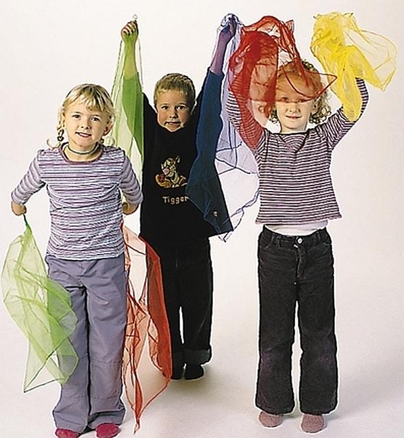 Set van 4 magic scarves 138 x 138