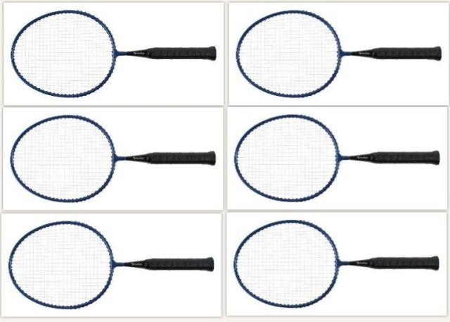 Set van 6  korte lichte badmintonrackets