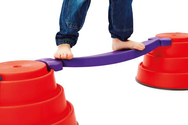 Set van Build'n Balance met wiebelbrug