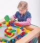 Speeltafel voor Lego en Duplo met 4 gekleurde foamkubussen
