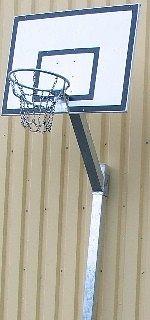 Basketbalset GFK bord met standaard 120 x 90 cm