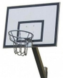 Basketbalset wandbord verzinkt met standaard 180 x 120 cm