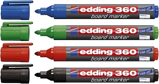 Whiteboardmarkers edding 4 x ass.