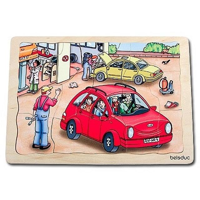 Lagenpuzzel autogarage