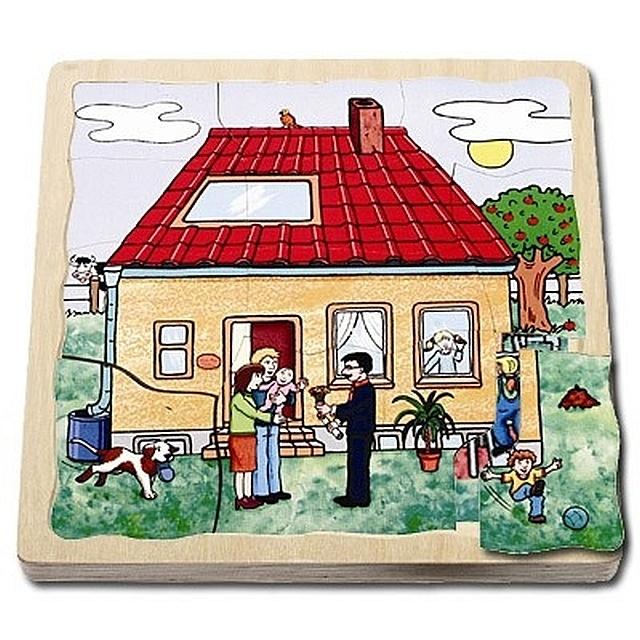 Lagenpuzzel huizenbouw