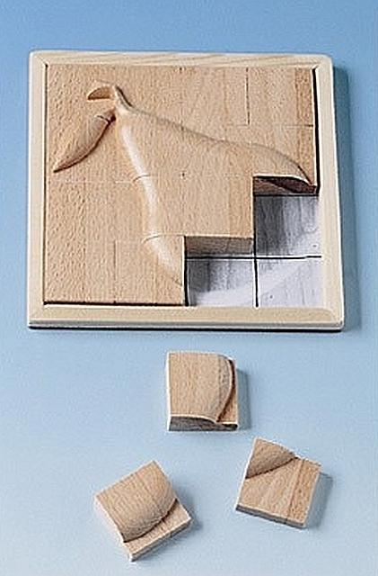 Reliëf puzzel peer
