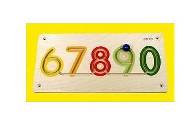 Wand en speelelement cijfers 6 tot 0