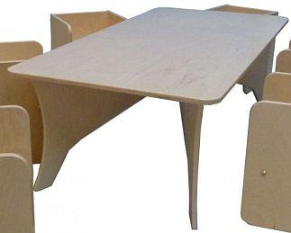 Kubus tafel groot t.b.v. Kubus stoeltjes