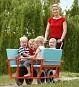 Kinderwagen  met 6 zitplaatsen